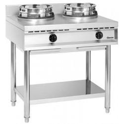 Cuisinière wok à gaz double...