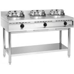 Cuisinière wok à gaz triple...